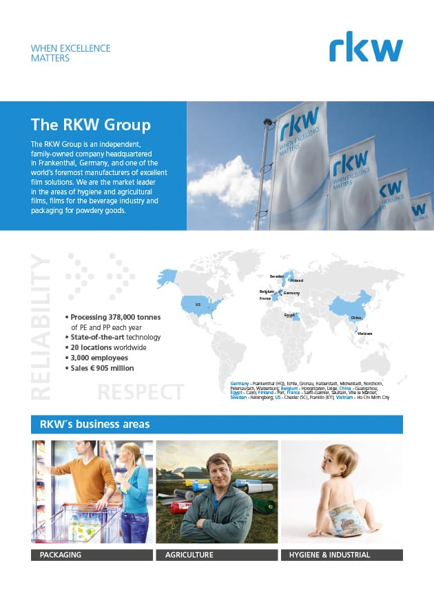 RKW Group - Hygiene Flyer Breathable Films Conference EN
