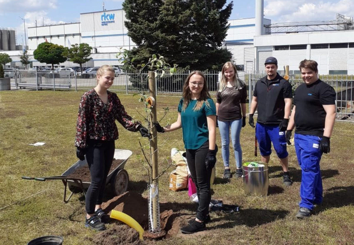 RKW Petersaurach's Trainees planting trees