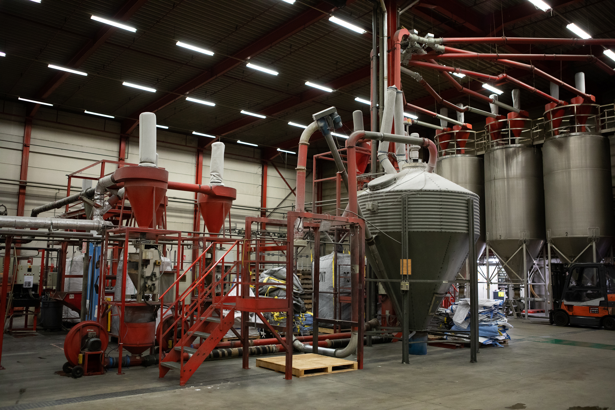 Recycling facility at the RKW plant in Hoogstraten, Belgium